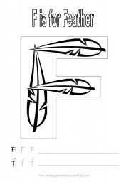 Handwriting worksheet - letter F