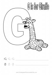Handwriting worksheet - letter G
