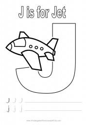 Letter J Handwriting Worksheet