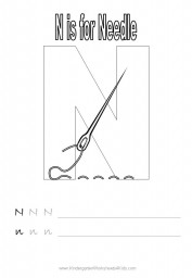 Letter N Handwriting Worksheet