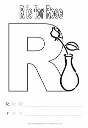 Alphabet worksheet - letter R