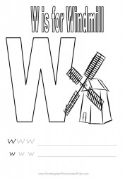 Alphabet worksheet - letter W