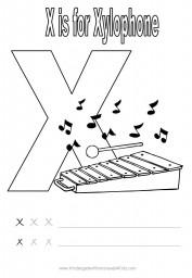 Alphabet worksheet - letter X