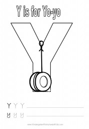 Alphabet worksheet - letter Y