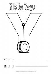 Alphabet worksheet - letter Y