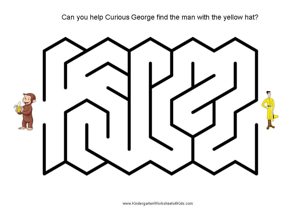 Curious George Mazes for Kids