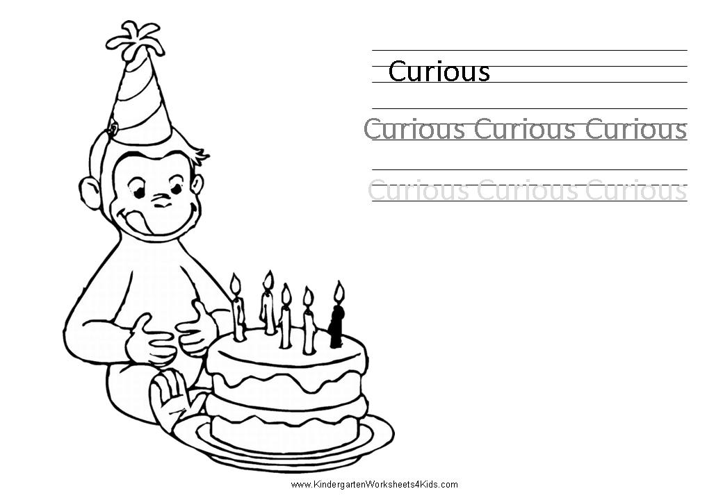 Worksheets with Curious George