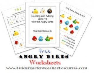 Angry Birds Math Worksheets