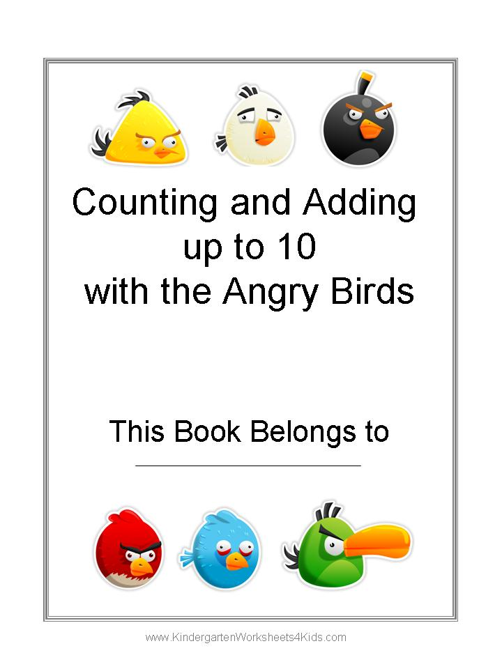 Free Angry Birds Math Worksheets for Kindergarten – Math Wizard Worksheets
