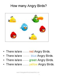 angry bird worksheet