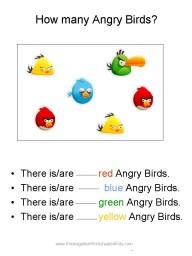 angry bird worksheet