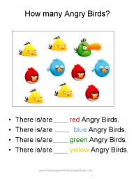 Angry Birds Addition Worksheet