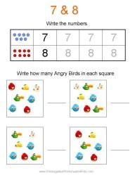 Angry Birds Preschool Worksheets