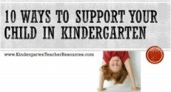 10 Ways to Support your Child in Kindergarten