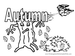 autumn coloring page