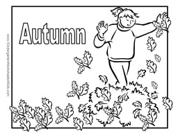 autumn colouring pages