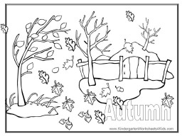 autumn coloring sheet