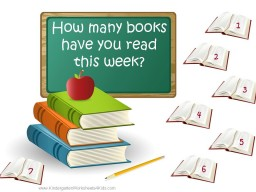 book chart to encourage kids to read