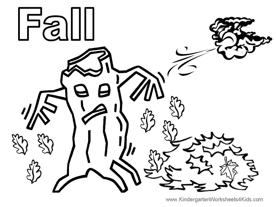 free coloring pages of fall fun