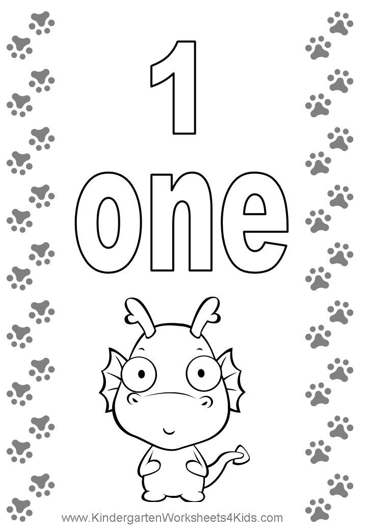 Number coloring pages for Number one coloring page