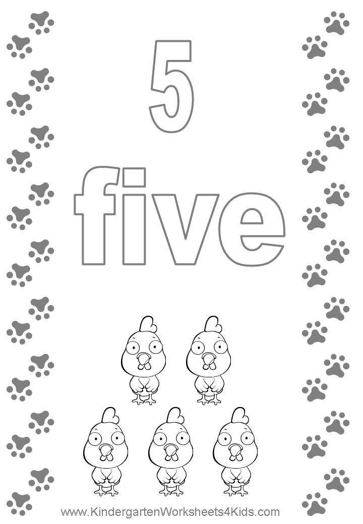 Number coloring pages for Number 5 coloring page