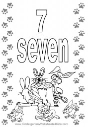 Number 7 coloring page