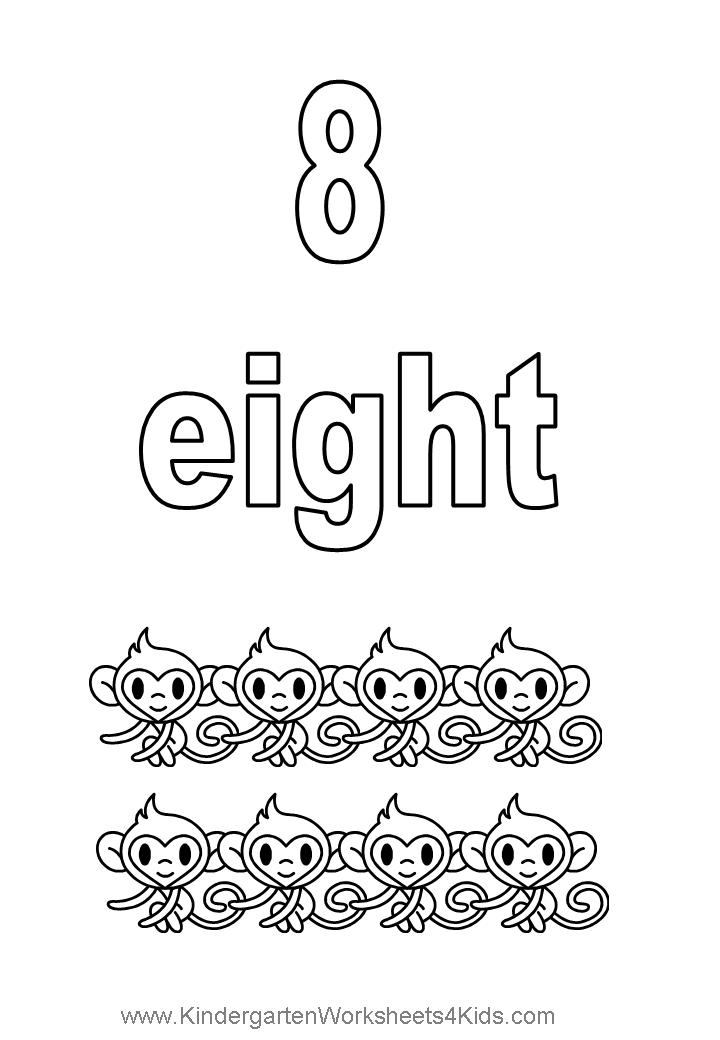 Number coloring pages for Number 8 coloring page