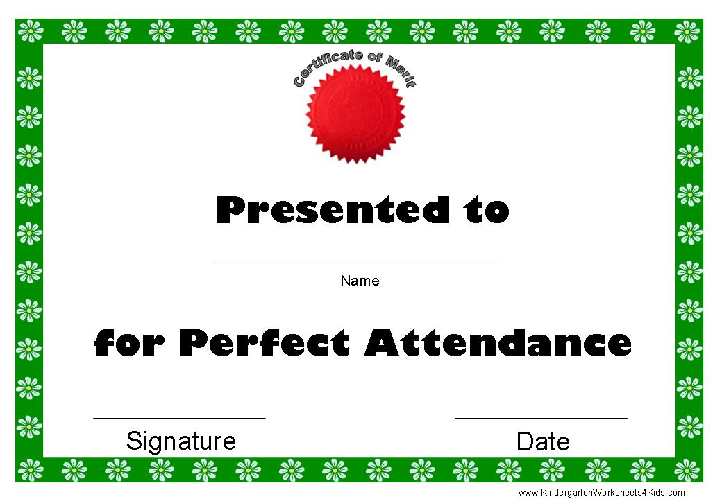 reply free perfect attendance certificates template perfect attendance ...