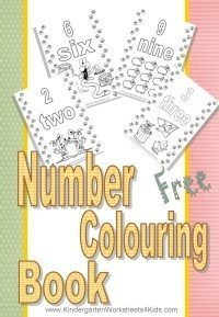 Number colouring book