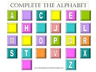alphabet worksheets
