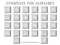 kindergarten alphabet worksheet