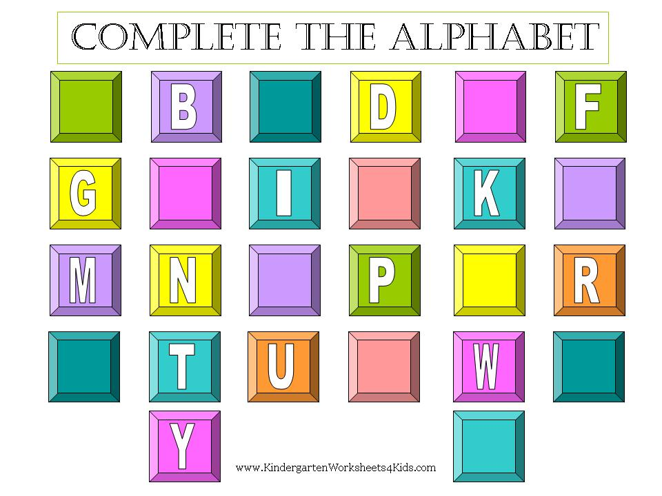 Plete The Alphabet Worksheets. Free Kindergarten Worksheets Printable Worksheet Alphabet. Kindergarten. Worksheets For Kindergarten Alphabet Printable At Clickcart.co
