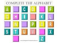 free alphabet worksheet