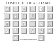 free printable alphabet worksheet