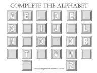 kindergarten worksheets to learn alphabet