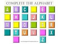 complete the alphabet worksheet