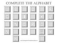 complete the alphabet