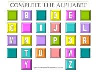 free kindergarten alphabet worksheet