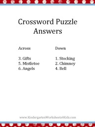Printable Christmas crossword