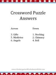 Printable Christmas crossword