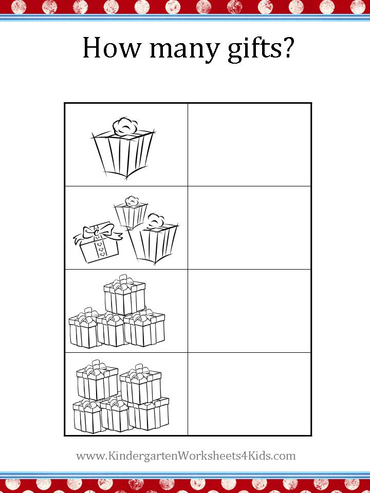math worksheet : christmas worksheets : Kindergarten Christmas Worksheet