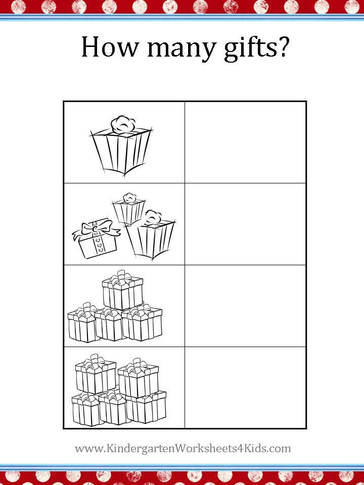 Christmas Worksheets – Holiday Worksheets for Kindergarten
