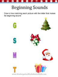 Kindergarten Christmas Worksheet