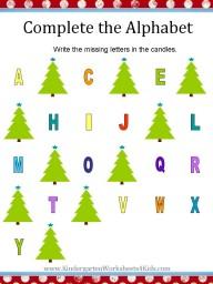 Christmas alphabet worksheets