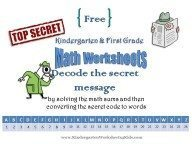 Math Worksheets with Secret Code