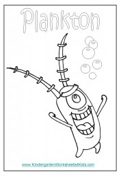 Plankton coloring page