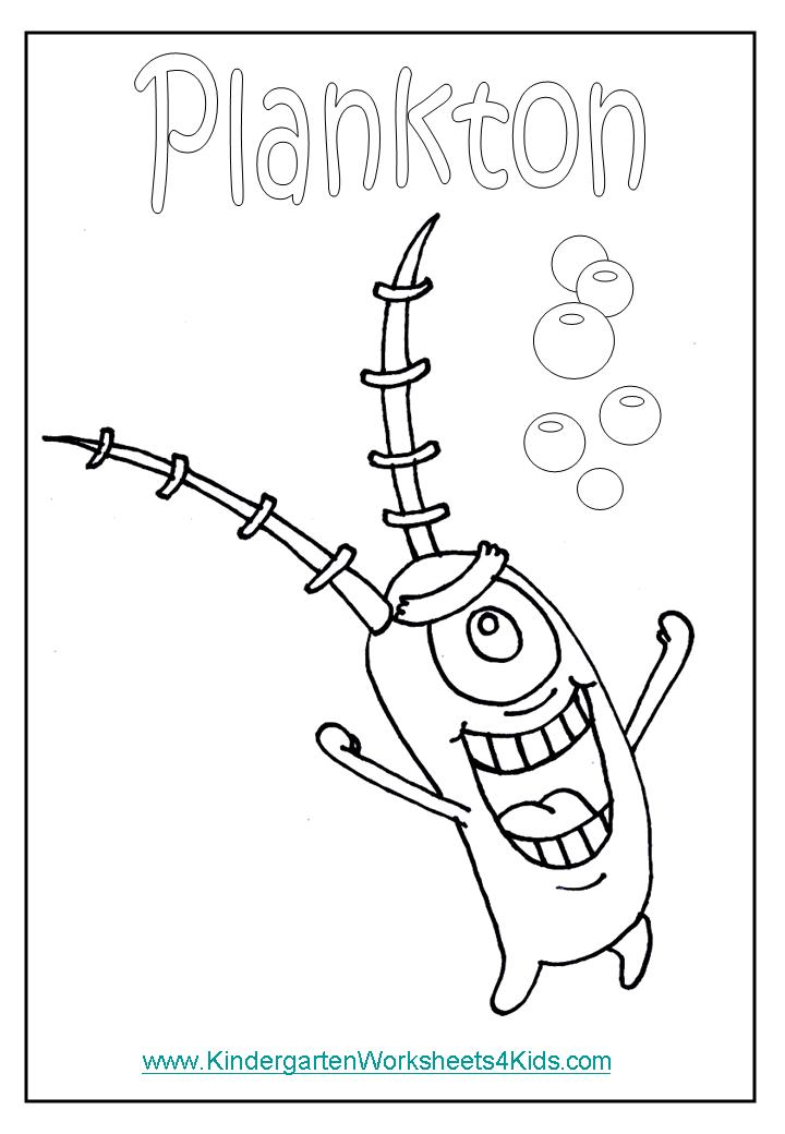 sea plankton coloring pages - photo#22