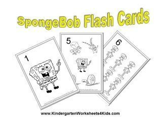 Spongebob number flash cards