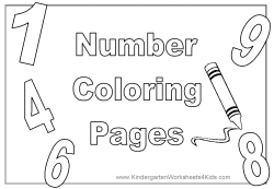Number Coloring Pages – 1 – 10
