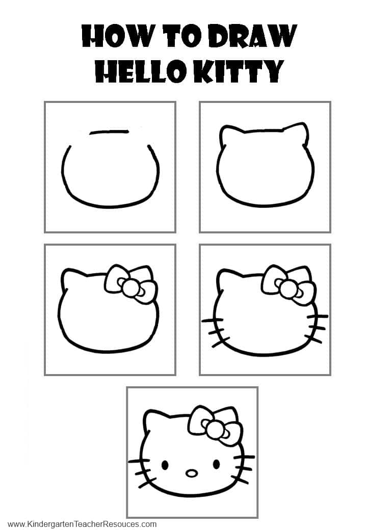 hello kitty dessin